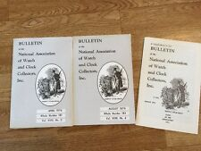 Bulletin of the National Association of Watch & Clock Collection 2 Booklets 1976