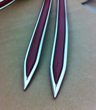 """Vintage type 5/8 """" Dark Red with Chrome body side molding formed pointed ends"""