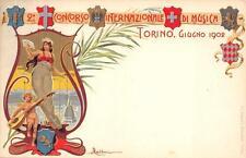3134) TORINO 1902 CONCORSO INTERNAZIONALE DI MUSICA, ILLUSTRATORE DEL BESIO.