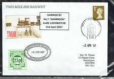 Bagley Wood Railway / Two Mile Ash L.R. 2007 2nd April cover 2 x 25p stamps (5)