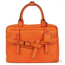 Reed Krakoff Vibrant Orange Leather Fighter Medium Bowling Bag Handbag