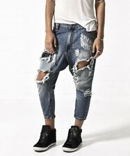 NEW ONE by One Teaspoon Kingpins Drop Rise Destroyed Boyfriend Jeans in Dusty 26
