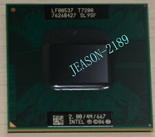 5PCS Intel Core 2 Duo Mobile T7200 2.0GHz dual-core processor of SL9SF4M667MHz