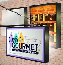 LED Illuminated LIGHTBOX (2) Double Sided Outdoor with SIGN GRAPHICS  3'X4' -9""