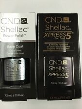 "CND SHELLAC ""XPRESS 5 TOP Coat + BASE COAT"" Gel Polish UV/LED Cure 5~60 second"