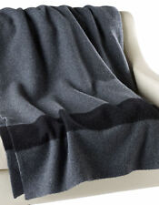 Authentic HBC Hudson's Bay Wool Point Blanket - Charcoal Grey Queen Size 6 point