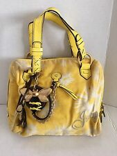 Juicy Couture Yellow White Bumble Bee Mini Daydreamer Handbag Purse Authentic