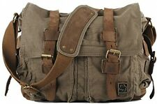 COOLER Mens Ragazzi Canvas Vintage Militare spalla Messenger Bag School BAGS x x
