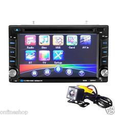 6.5 doppio 2din Touch Auto Stereo CD DVD Player Bluetooth USB SD RADIO AM FM TV 1a