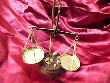 ANTIQUE LOOK BRASS NAUTICAL WEIGHING BALANCE SCALE 10g