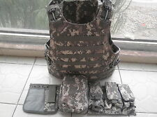 ACU Tactical Soft Bullet proof vest IIIA + 2PCS Ceramic plates III (STAND Alone)