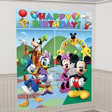 Mickey Mouse and Friends Happy Birthday Wall Scene Setter Party Decorations Kids