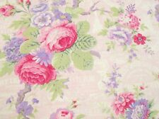 LakeHouse Sausalito Cottage Fabric Roses w/French Words LH13000B-Baby BTY