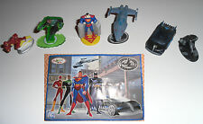 KINDER Justice League 2007 Completa Complete Batman Superman Green Lantern Flash