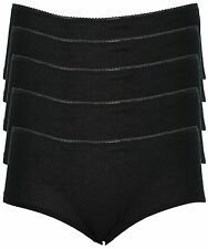Ex Store Multipack Shortie Style Cotton Rich Knickers