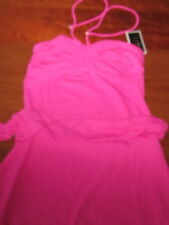 NWT $94 JUICY COUTURE bathing suit COVER-UP pink belted Ana Capri size MEDIUM