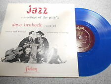 DAVE BRUBECK  JAZZ AT THE COLLEGE OF THE PACIFIC   LP  10 INCH BLUE VINYL    349
