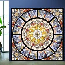 Customized No Glue Static Stained Decorative Balcony Glass Window Film Sticker