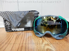 Oakley A Frame Shaun White Block Stripes Mint Leaf Emerald Iridium Goggles RARE!
