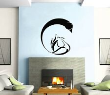 Wall Sticker Vinyl Decal Black And White Swan  Romantic  Marriage z480