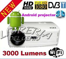 VIDEOPROIETTORE DVB-T TV 3D FORMAT MKV CINEMA 3000 LUMENS FULL-HD CON ANDROID 4