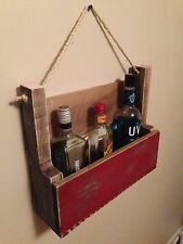 Liquor/Wine Rack - Rustic Reclaimed Wood - Barn Pallet Upcycle Recycle Home Deco