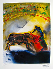 Salvador Dali THE BULLFIGHT Facsimile Signed Limited Edition Giclee