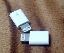 2x Android to i PHONE 5s 6 6s adapter new small slim white  charge plug