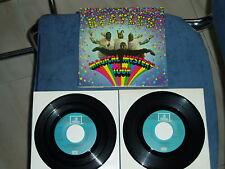 THE BEATLES EP DOBLE MAGICAL MISTERY TOUR MEGARARO AZUL CLARO SPAIN MINT-