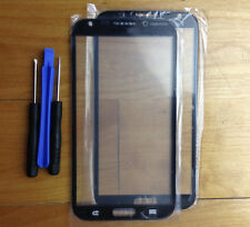 Gray Outer Front Screen Glass Lens Cover + Tool for Samsung Galaxy Note 2 N7100