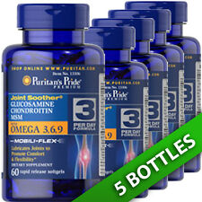 Glucosamine, Chondroitin & MSM with Omega 3, 6, 9 by Puritan's Pride 5X60 Caps