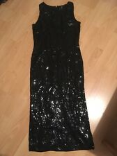 Nero Lustrini Lungo Natale Party Dress Sparkle Richards OPERA 10 12 mozzafiato su
