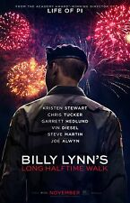 "Billy Lynn's Long Walk Home movie poster 11"" x 17"" inches - Ang Lee"