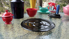 "FIESTA 12.25"" HOSTESS VEGI/CHIP TRAY PLATE Black"