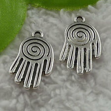 free ship 60 pcs tibet silver hand charms 25x14mm #3637
