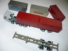 WIKING HO plastic container transporter MAN truck car Trans CTI Happag LLoyd
