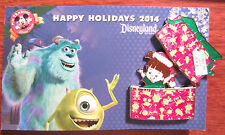 Disney Happy Holidays 2014 Pin MIKE SULLEY BOO Gift Box Present Hinged LE