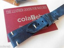 Cinturino ColaReb FIRENZE blu 22mm genuine leather watch band strap bracelet