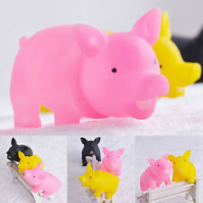 Hot Play Pig Dog Cat Puppy Fun Colorful Rubber Latex Cute Sound Squeaky Pet Toy