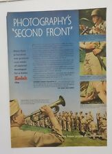 Original Print Ad 1944 KODAK WWII Army Photographs Second Front