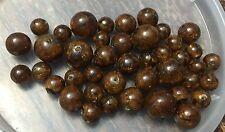 Vintage Old German Brown Rootbeer Swish Crackle Mixed Round Lucite Bead Lot