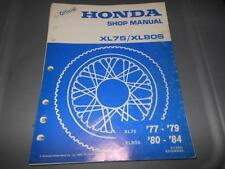 Factory Honda 1977-79 XL75 1980-84 XL80S Service Manual 26Chpt.
