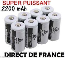 6 Piles Accus Rechargeables CR123A 16340 3.7V 2200Mah BTBAI Li-ion Batteries