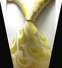 New Classic Fashion Yellow Floral WOVEN JACQUARD Silk Men's Suits Tie Necktie