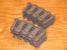 48 pieces Lego 4520 9v curve train tracks lot, quantity 48x, dark gray