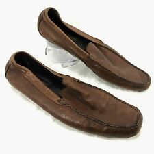 Men's To Boot New York Driving Moccasins loafers Brown leather Sz 12