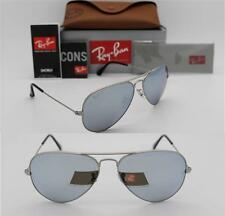 RAY BAN AVIATOR RB 3025 019/W3 58MM MATTE SILVER / POLARIZED SILVER MIRROR L642C