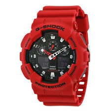 Casio G-Shock XL Analog-Digital Black Dial Red Resin Strap Unisex Watch