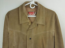 Levis San Francisco Vintage Fully Lined Suede Leather Jacket With Snap Buttons M