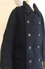 Mens Navy Blue Faconnable Coat Size XXL Great Item